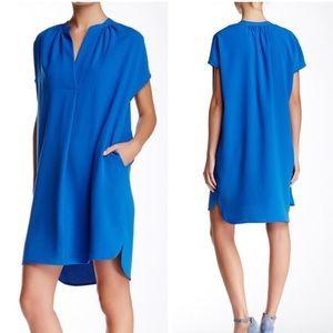 Vince blue popover casual dress